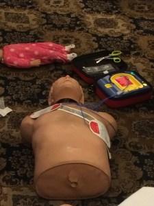 Defibrillator demonstration