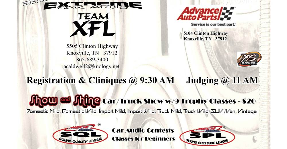 Th Annual Team Extreme Car Show Knoxville TN MECA Mobile - Meca car show