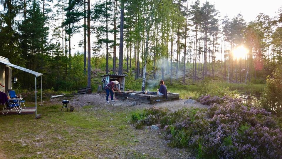 Obligatorisk eldning/grillning när man fricampar