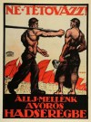 A poster of the short-lived Hungarian Socialist Republic