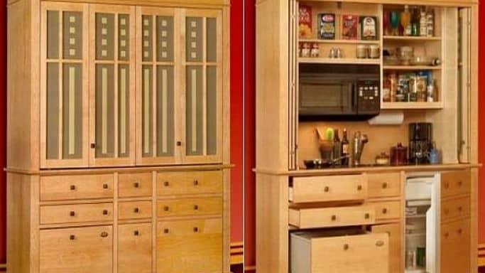 Mini Kitchens Disguised As Furniture   @meccinteriors   Design Bites