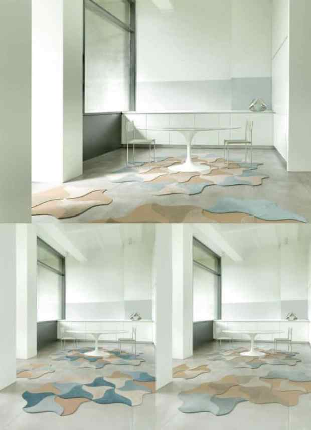 free form carpet tiles   @meccinteriors   design bites