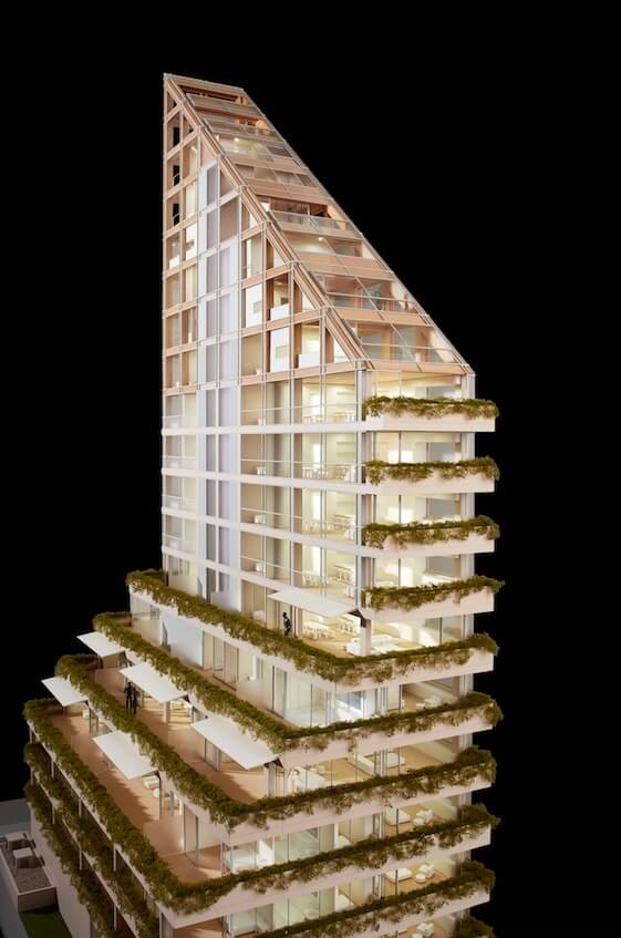 a look at the world's tallest hybrid timber building   @meccinteriors   design bites