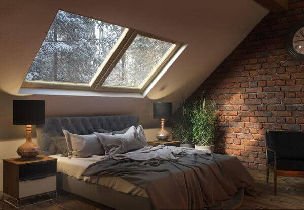 bedroom skylights for natural daylighting and stargazing | @meccinteriors | design bites