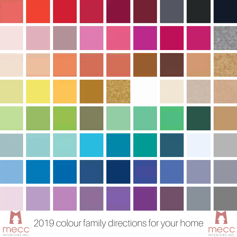 #tuesdaytrending: 2019 colour family directions for your home