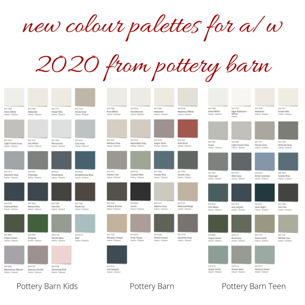 New Colour Palettes For A W 2020 From Pottery Barn Mecc Interiors Inc,How To Decorate Your Living Room On A Budget