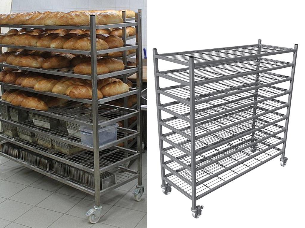 bakery cooling rack trolley 9 shelves