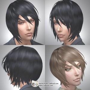 Sims 4 hair シムズ4 髪型 Panda Lna-Lan remodeled ShortBob