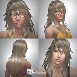 Sims 4 hair シムズ4 髪型 Panda Lna-Lan remodeled LongHair