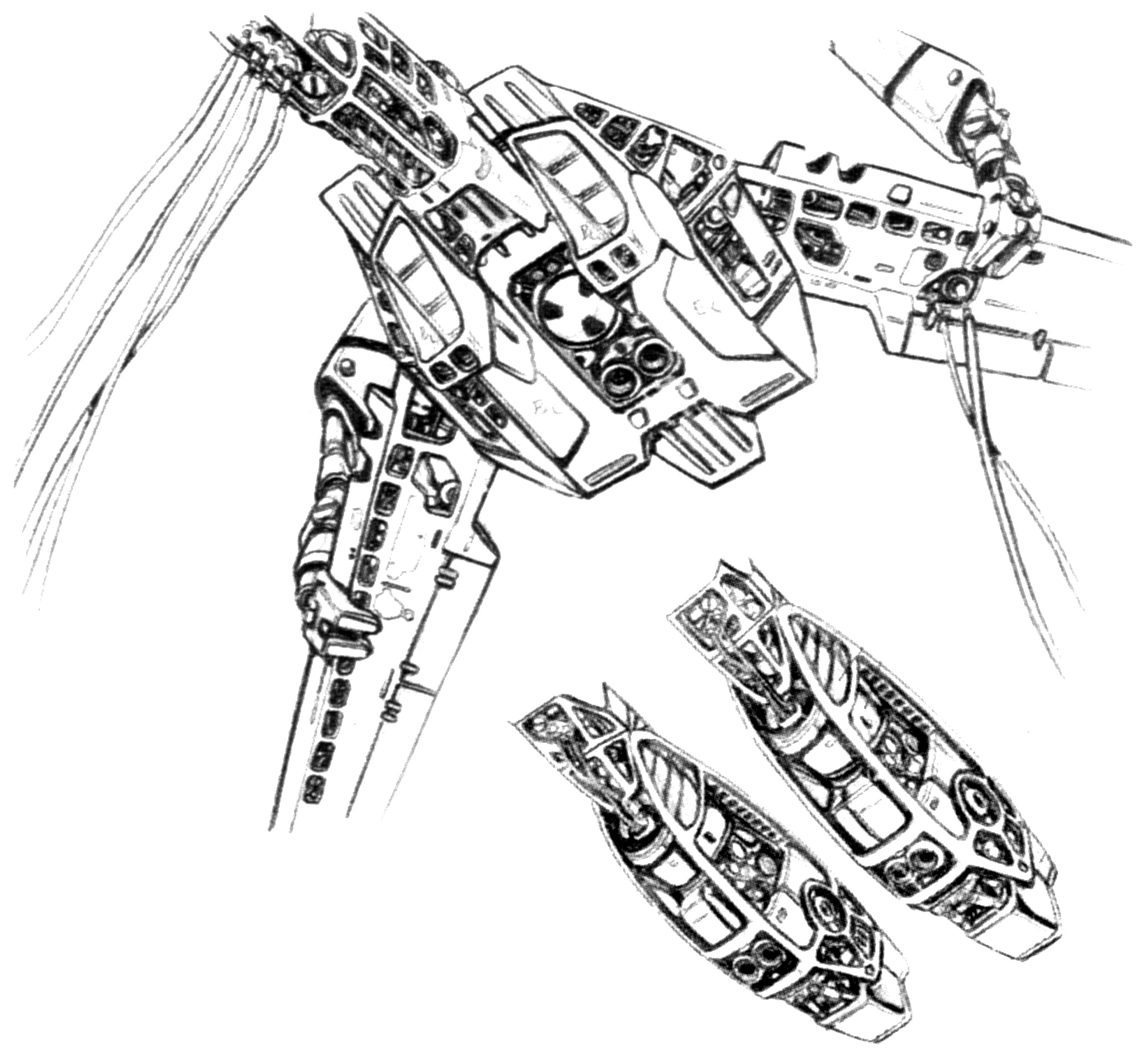 Vf 1 Valkyrie Veritech Fighter Technical Illustrations