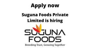 Suguna Foods is hiring | Senior HSE Executive | Diploma/ BTech/ BE in Mechanical/ Electrical, Paint/Oil, Electronics/ Telecommunication, Production/ Industrial, Textile or BSc in Chemistry, Physics |