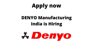 DENYO Manufacturing India is Hiring | Design Manager | BE/ BTech in Mechanical or ME/ MTech in Design |