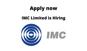 IMC Limited is Hiring | Technical Trainees – Freshers | BE/ BTech in Mechanical/ Chemical/ Petroleum/ Production Engineering |