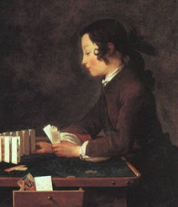 Chardin, House of Cards (88x66), National Gallery, London
