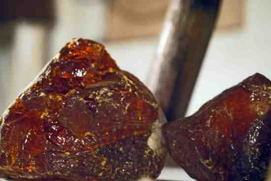 Rocks of rosin