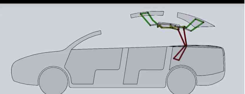 Revised Three Panel Hardtop Convertible Linkage Mechanical Design 101
