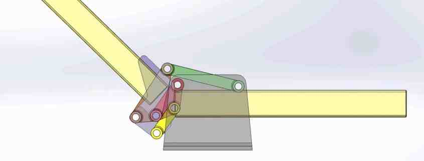 Another version of a six-bar folding linkage