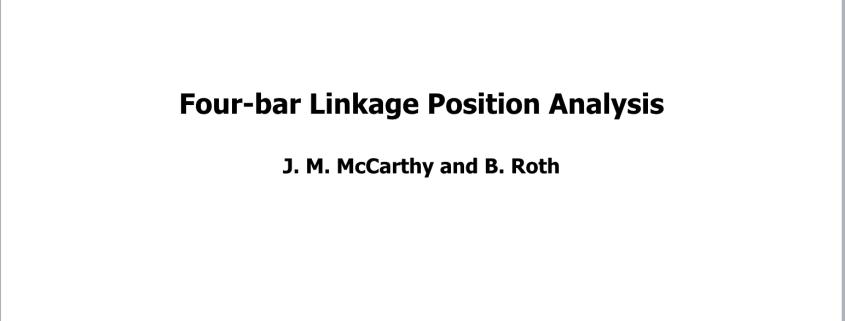 T1 Four-bar Linkage Analysis