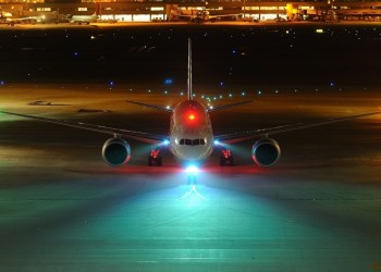 Why green & red lights on wing ends ? Airplane lights