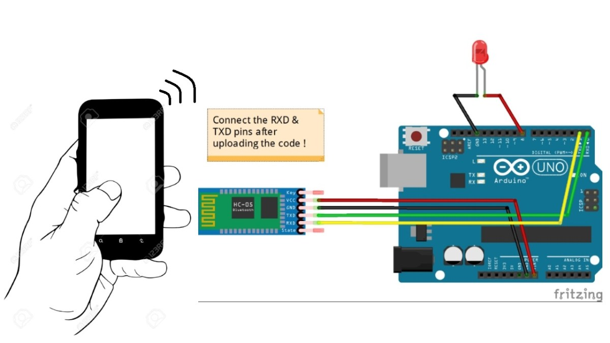Control LEDs with your Android | Arduino-Bluetooth module tutorial