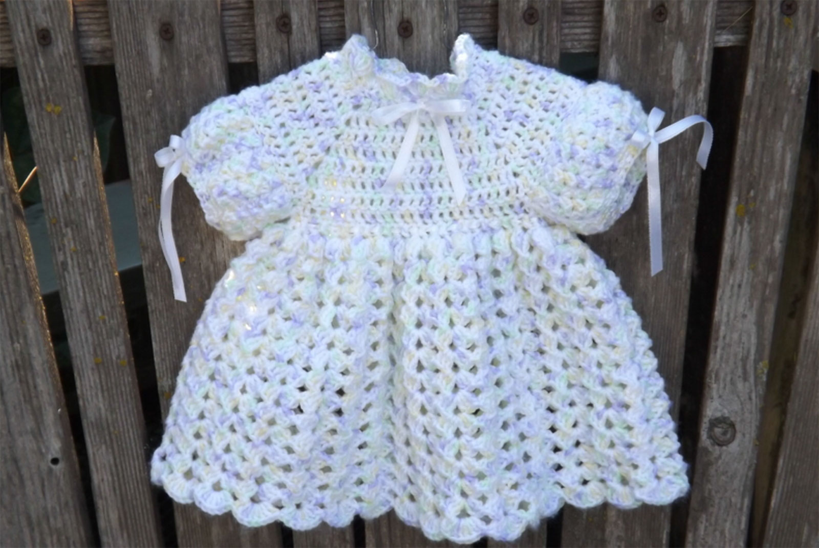 3 Cute Crochet Childrens Dress Patterns Free Crochet Ba Dress Pattern Lovetoknow