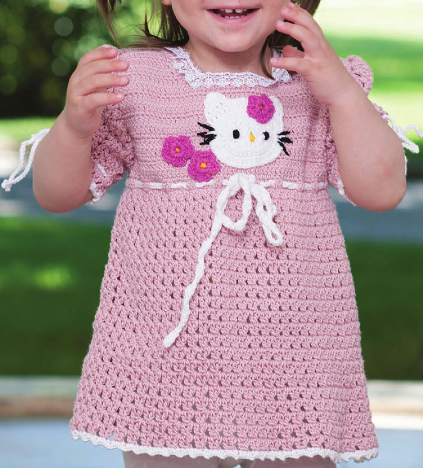 3 Cute Crochet Childrens Dress Patterns Little Girl Dress Crochet Pattern Free
