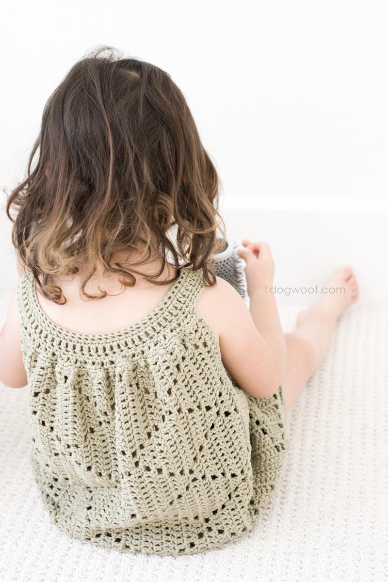 3 Cute Crochet Childrens Dress Patterns Summer Diamonds Toddler Dress One Dog Woof