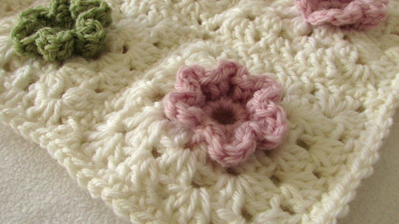 3 Magnificent Ideas of the Free Crochet Rose Afghan Pattern How To A Crochet A Cute 3d Flower Granny Square Blanket Youtube