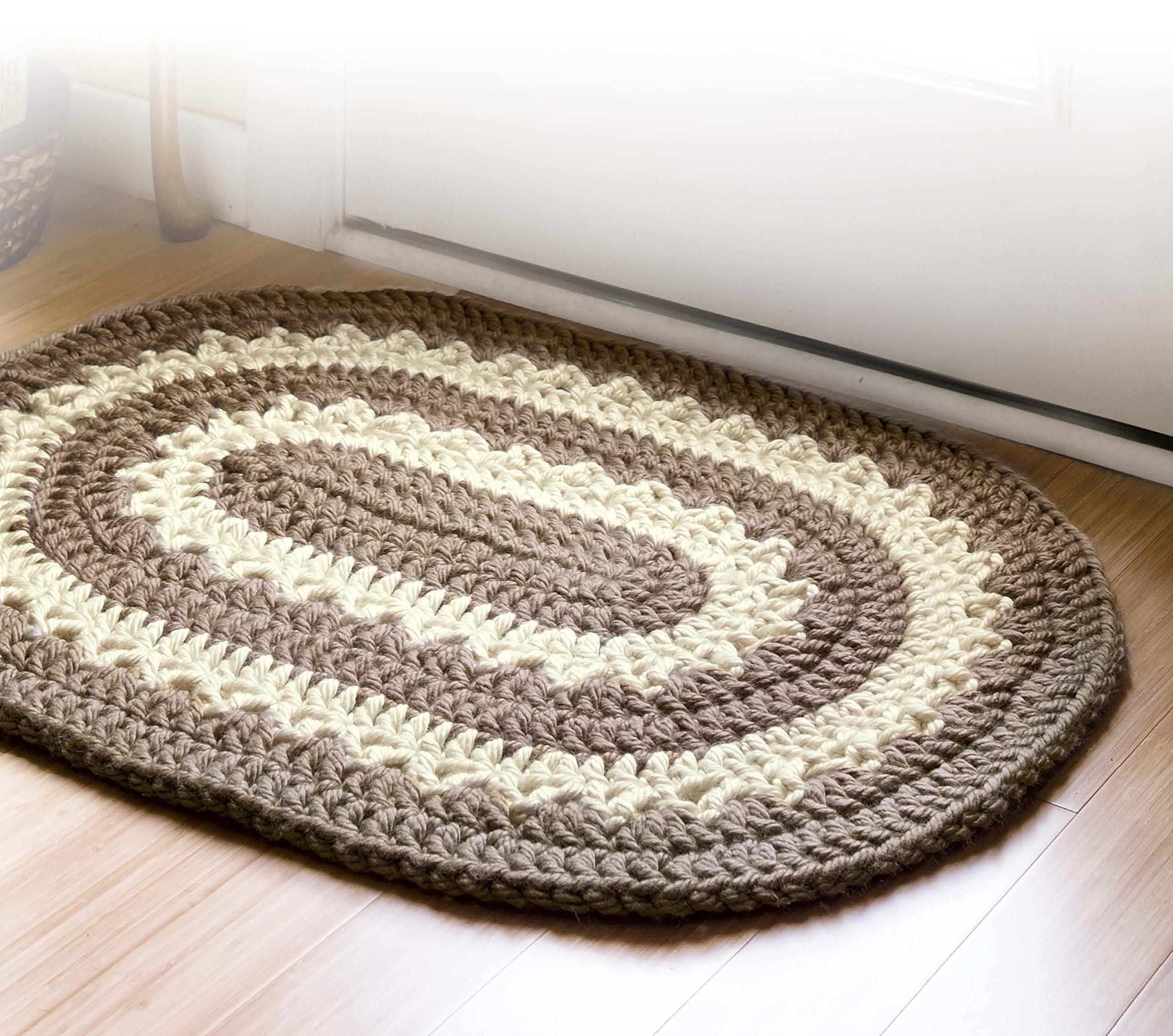 3 Motifs of Easy Crochet Oval Rug Pattern Crochet Rug Patterns 1000lives