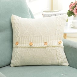 3 Recommended Designs of Crochet Patterns for Pillow Covers 20 Designs Knitted Pillow Case Cover European Crochet Button Chevron