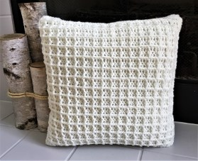 3 Recommended Designs of Crochet Patterns for Pillow Covers Buttery Soft Waffle Pillow Crazy Cool Crochet