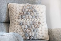 3 Recommended Designs of Crochet Patterns for Pillow Covers Crochet Bobble Pillow Cover Pattern Rescued Paw Designs