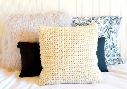 3 Recommended Designs of Crochet Patterns for Pillow Covers Super Chunky Crochet Pillow Project Mama In A Stitch