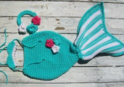 Amazing Crochet Mermaid Pattern for Baby's Mermaid Tail Crochet Mermaid Pattern Ba Costume Pattern Ba Girl Etsy