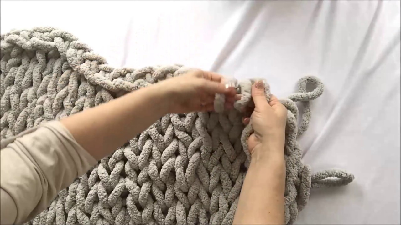 Bulky Yarn Crochet Afghan Patterns for Beginners Hand Knit Chunky Chenille Blanket 40x60 Becozi 10 Off Youtube
