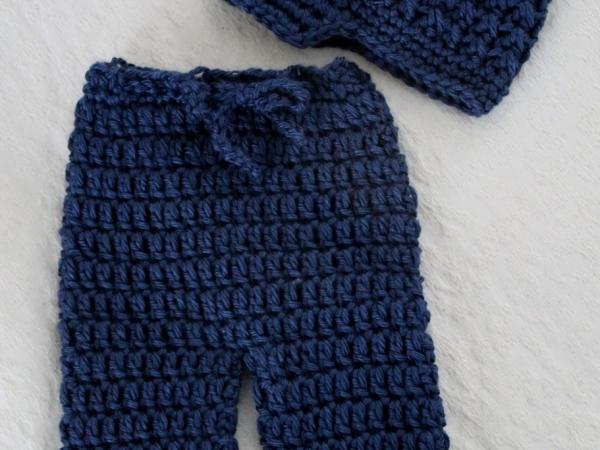 Crochet Baby Pants Pattern  Crochet Patterns Newborn Pants Longies And Newsboy Visor Hat