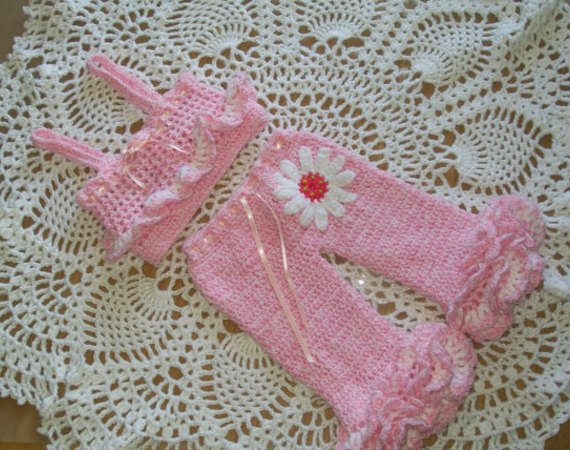 Crochet Baby Pants Pattern  Girls Pants And Top Pattern Crochet Ba Girl Pattern Summer