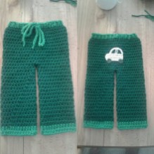 Crochet Baby Pants Pattern Handmade Crocheted Ba Boys Pants With Car On Butt May Fit Depop