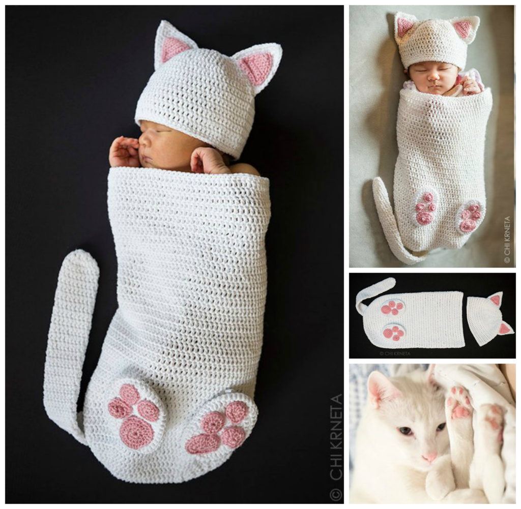 Crochet Cocoon Patterns For Newborns Crocheted A Cat Cocoon For Your Newborn Human Perfect Prop For