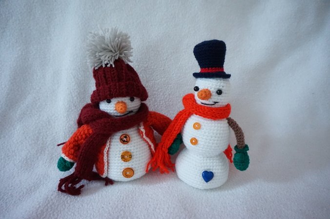 Crochet Pattern For Snowman Christmas Snowman Crochet Pattern
