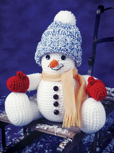 Crochet Pattern For Snowman Crochet Doll Toy Downloads Smiling Snowman Crochet Pattern