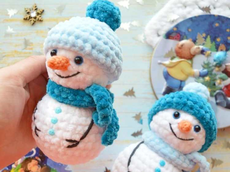 Crochet Pattern For Snowman Crochet Snowman Amigurumi Pattern Amigurumi Space