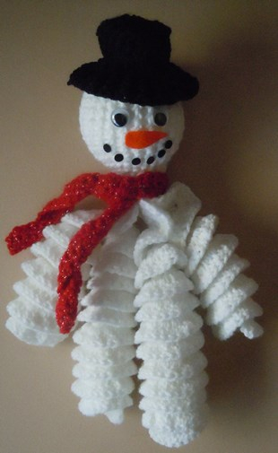 Crochet Pattern For Snowman Crochet Snowman Decoration