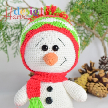 Crochet Pattern For Snowman Cute Snowman Amigurumi Pattern Amigurumipatterns