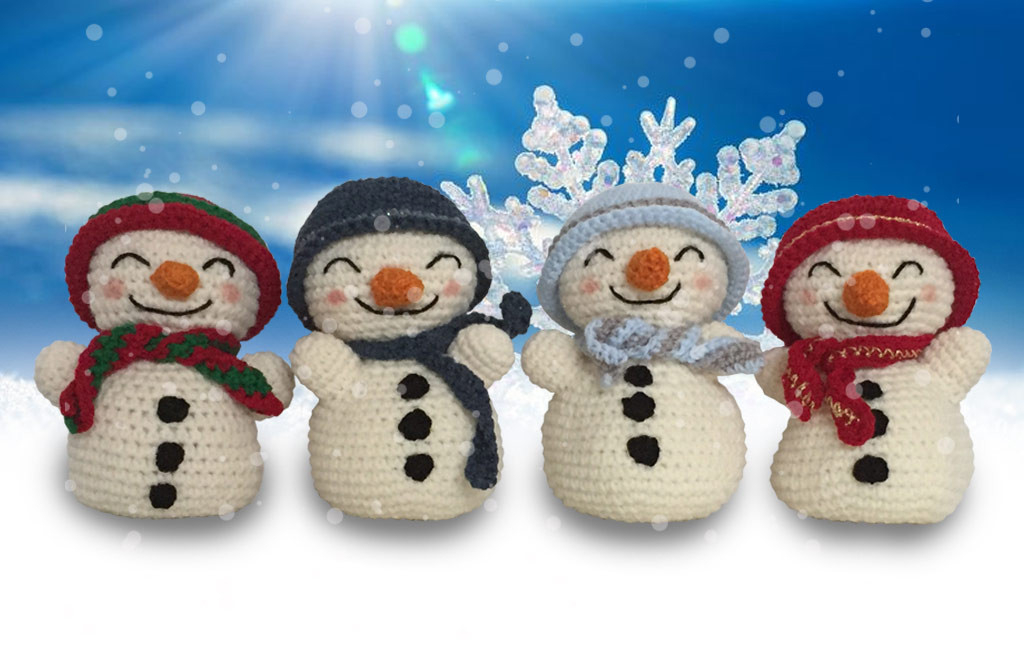 Crochet Pattern For Snowman Free Snowman Crochet Pattern Happy Crocheting