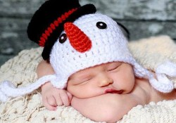 Crochet Pattern For Snowman Handmade Knitted Ba Beanie Hat Crochet Pattern Childrens Snowman