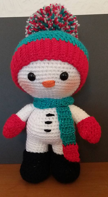 Crochet Pattern For Snowman Snowman Amigurumi Free Crochet Pattern Free Crochet Patterns