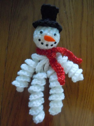 Crochet Pattern For Snowman Snowman Ornament Christmas Crochet Pattern