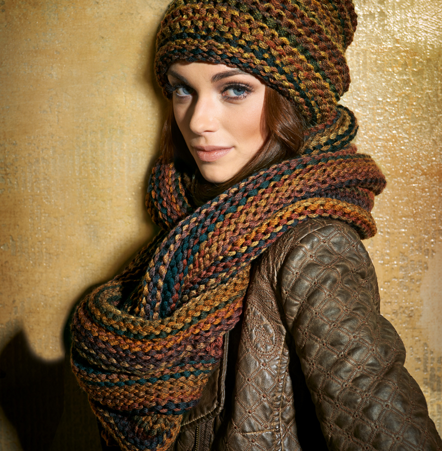Crocheted Hats And Scarves Easy Knitting Pattern Hat For ...