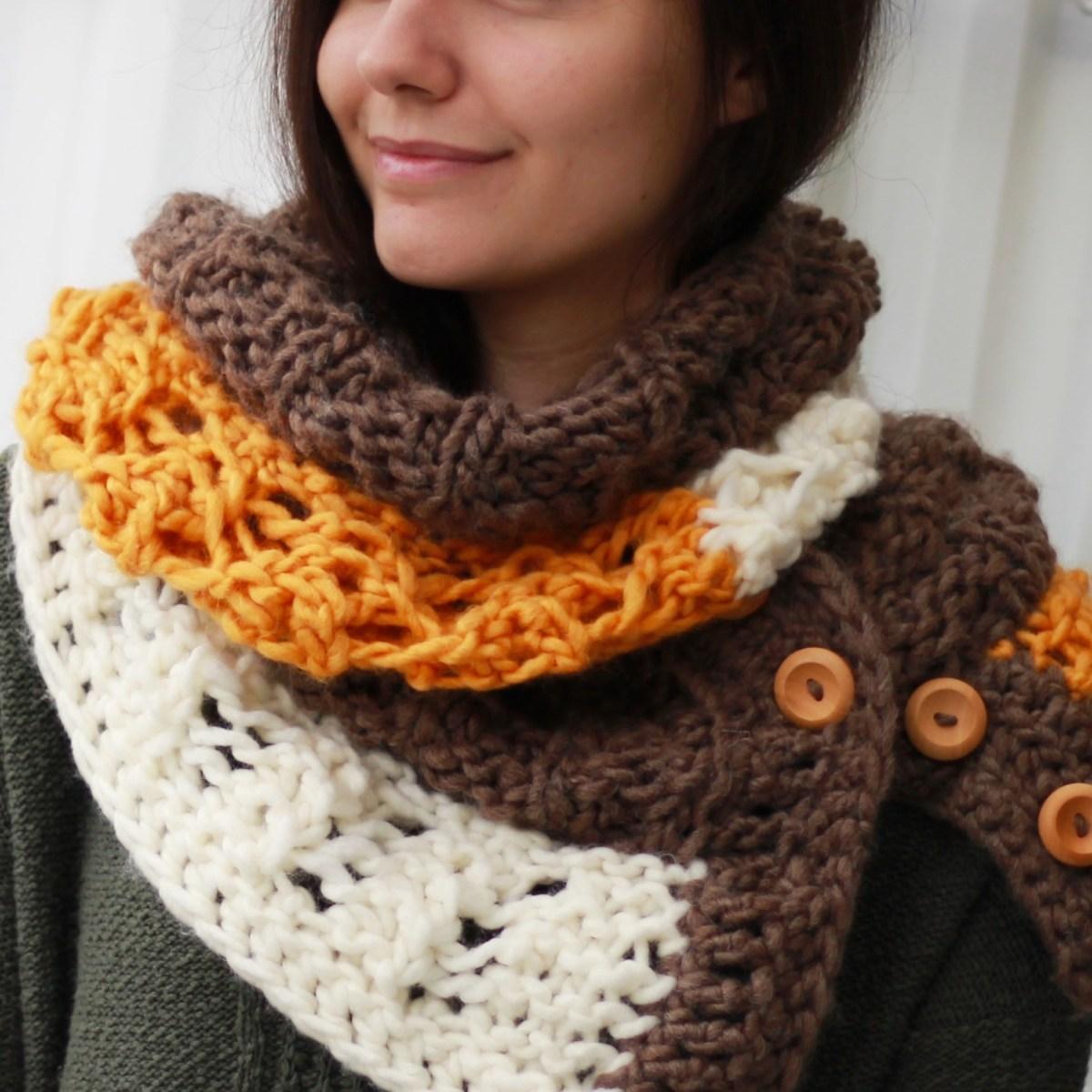 Easy Infinity Scarf Crochet Pattern Melody Scarf Infinity ...